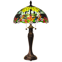 Dale Tiffany Lydia 2 Light Table Lamp in Fieldstone TT100588