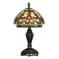 Tiffany 19 inch 60 watt Fieldstone Table Lamp Portable Light