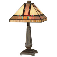 Dale Tiffany Hyde Park Mission Table Lamp 2 Light in Mica Bronze TT10090