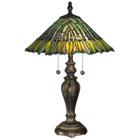 Dale Tiffany Leavesley Table Lamp 2 Light in Fieldstone TT100914
