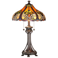 Dale Tiffany Bellas Table Lamp 2 Light in Weather Ford TT101033 photo thumbnail