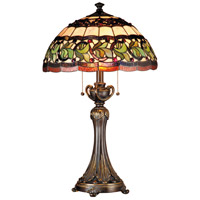 Dale Tiffany Aldridge 2 Light Table Lamp in Antique Bronze TT101110