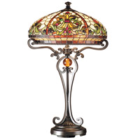 Dale Tiffany TT101114 Boehme 28 inch 60 watt Antique Golden Sand Table Lamp Portable Light photo thumbnail