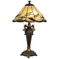 Dale Tiffany Fallhouse 2 Light Table Lamp in Antique Bronze TT101118