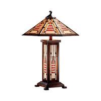 Dale Tiffany Woodruff Table Lamp 3 Light in Antique Bronze TT101163 photo thumbnail