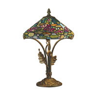 Dale Tiffany Dunkirk 2 Light Table Lamp in Antique Bronze TT101216
