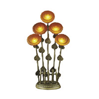Dale Tiffany Sunflower Table Lamp 5 Light in Antique Brass TT101259