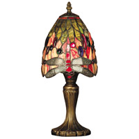 Dale Tiffany TT101287 Vickers 15 inch 40 watt Antique Brass Accent Lamp Portable Light photo thumbnail