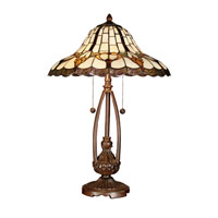 Dale Tiffany Esterlund Table Lamp 2 Light in Antique Bronze TT101374