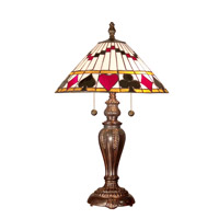 Dale Tiffany Royal Flush Table Lamp 2 Light in Fieldstone TT101420