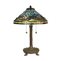 Dale Tiffany Tiffany 2 Light Table Lamp in Antique Verde TT10216 photo thumbnail