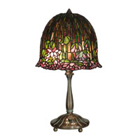 Dale Tiffany Tiffany Lotus Flower Table Lamp 2 Light in Antique Verde TT10336 photo thumbnail