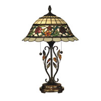Dale Tiffany Greenfield Table Lamp 2 Light in Antique Bronze TT10337 photo thumbnail