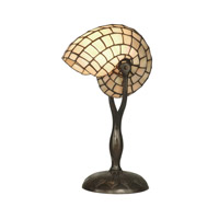 Dale Tiffany TT10346 Nautilius Snail 18 inch 60 watt Antique Verde Table Lamp Portable Light photo thumbnail