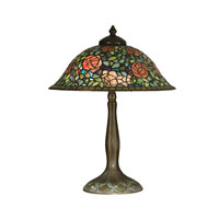 Dale Tiffany Tiffany Rose Garden Table Lamp 2 Light in Antique Verde TT10351 photo thumbnail