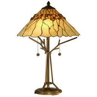 Dale Tiffany Branch Base Tiffany Table Lamp 2 Light in Antique Bronze Paint TT10598
