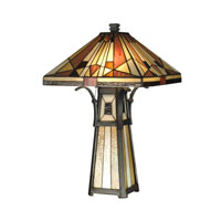 Dale Tiffany Mission Shade & Base Table Lamp 3 Light in Black TT10792 photo thumbnail