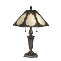 Dale Tiffany Prestine Panel Tiffany Table Lamp 2 Light in Fieldstone TT10843 photo thumbnail
