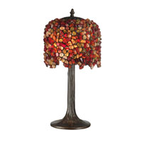 Dale Tiffany Pebblestone Table Lamp 2 Light in Antique Bronze Plating TT10845