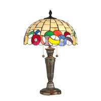 Dale Tiffany Billards Table Lamp 2 Light in Fieldstone TT10956