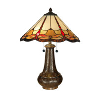 Dale Tiffany Tiffany Jewels Table Lamp 2 Light in Antique Bronze Paint TT11019 photo thumbnail