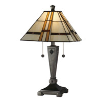 Dale Tiffany Atherton Table Lamp 2 Light in Mica Bronze TT11051