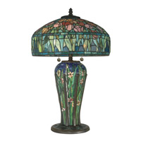Tulip 27 inch 60 watt Antique Bronze Table Lamp Portable Light