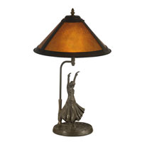 Mica 23 inch 60 watt Antique Bronze Paint Table Lamp Portable Light