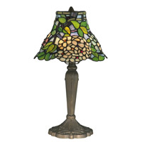 Dale Tiffany Trevor Tiffany Table Lamp 1 Light in Antique Brass TT12061 photo thumbnail
