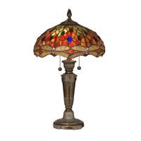 Dale Tiffany Pearce 2 Light Table Lamp in Fieldstone TT12087
