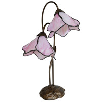 Dale Tiffany Poelking 2 Light Table Lamp in Dark Antique Bronze TT12146