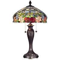 Dale Tiffany Zenia 2 Light Table Lamp in Fieldstone TT12232