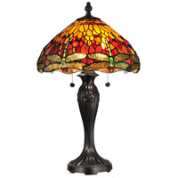 Dale Tiffany Reves 2 Light Table Lamp in Fieldstone TT12269