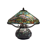 Dale Tiffany Alcoba 3 Light Table Lamp in Antique Bronze TT12330