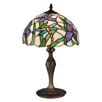 Dale Tiffany Prosa 1 Light Table Lamp in Antique Bronze TT12338