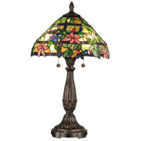 Dale Tiffany Trellis 2 Light Table Lamp in Fieldstone TT12364