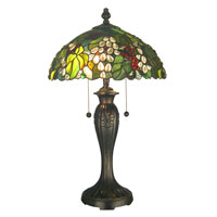Dale Tiffany Tioga 2 Light Table Lamp in Dark Fieldstone TT12365