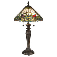 Dale Tiffany Lenera 2 Light Table Lamp in Fieldstone TT12366
