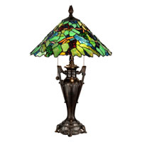Dale Tiffany Signature 2 Light Table Lamp in Fieldstone TT12367