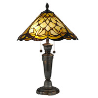 Dale Tiffany Villoria 2 Light Table Lamp in Fieldstone TT12368