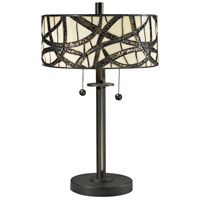 Dale Tiffany Willow 2 Light Table Lamp in Dark Bronze TT12412