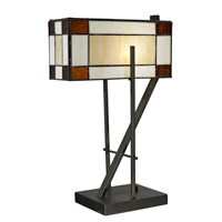 Dale Tiffany Diamond Hill 1 Light Table Lamp in Dark Bronze TT12414