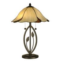 Dale Tiffany San Antonio 2 Light Table Lamp in Dark Bronze TT12431