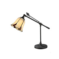 San Antonio 19 inch 60 watt Dark Bronze Mini Table Lamp Portable Light
