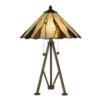 Dale Tiffany Ripley 2 Light Table Lamp in Copper Bronze TT12436