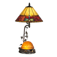 Dale Tiffany Signature 1 Light Table Lamp in Antique Bronze TT12472