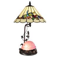 Dale Tiffany Signature 1 Light Table Lamp in Antique Bronze TT13002