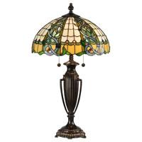 Dale Tiffany Asure 2 Light Table Lamp in Fieldstone TT13008