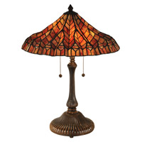 Dale Tiffany Signature 2 Light Table Lamp in Antique Bronze TT13059