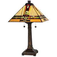 Dale Tiffany Palo 2 Light Table Lamp in Fieldstone TT13061